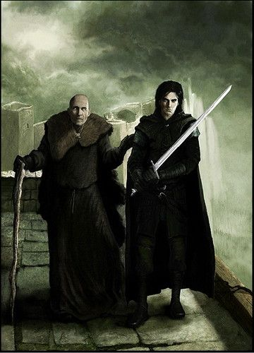Maester Aemon & Jon Snow. Game of Thrones. A Song of Ice and Fire.