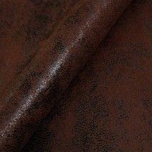 Tecido de couro ecológico velho mesclado marrom café - tecdec