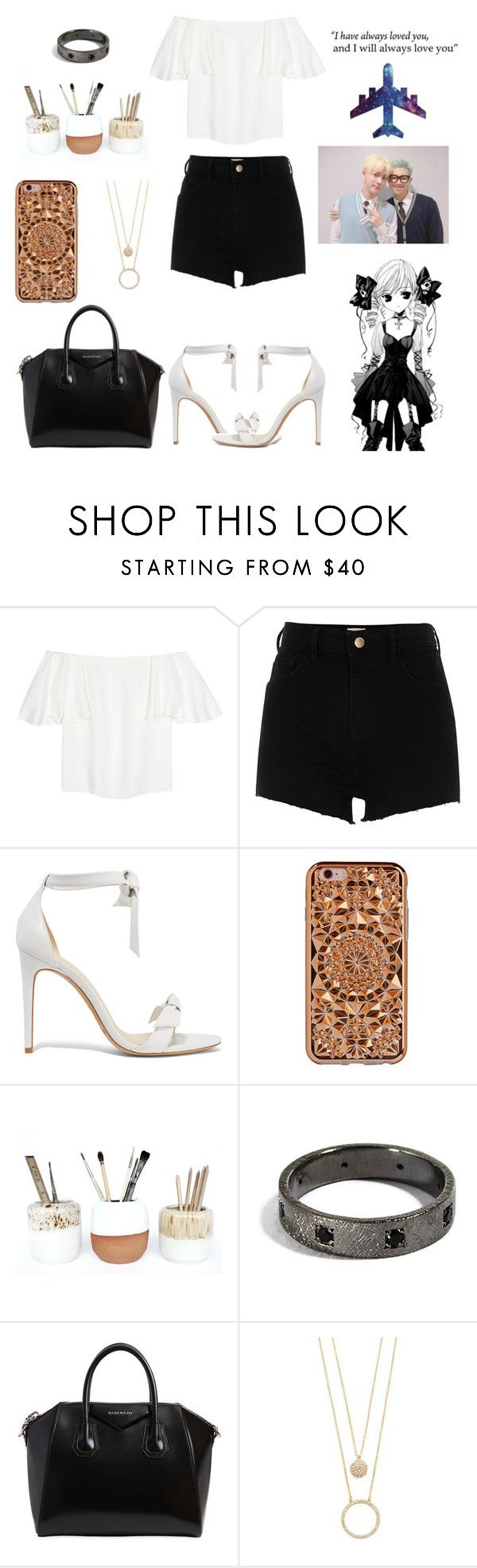 """""""I can't draw"""" by xx-secret-xx ❤ liked on Polyvore featuring Valentino, River Island, Alexandre Birman, Felony Case, Studio Arhoj, Givenchy, Kate Spade and WALL"""