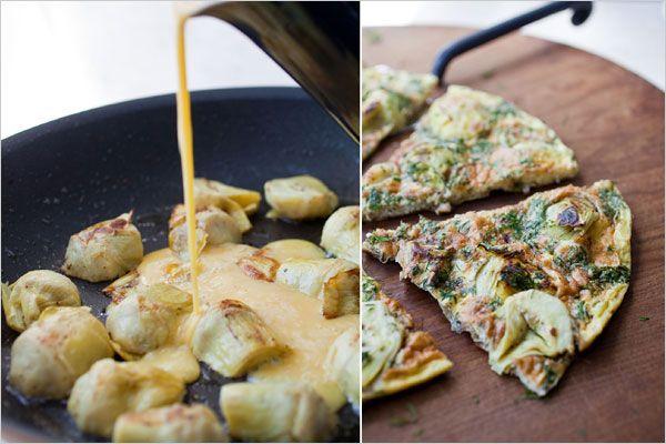Artichoke Heart Frittata ~ Easy Kitchen for Women