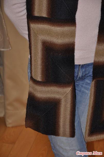 Вязаные подарки к новому году - шарфы из пряжи LANG Mille Colori Baby и Katia Darling