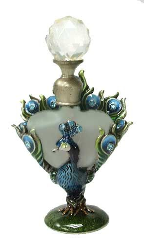 Peacock perfume bottle.