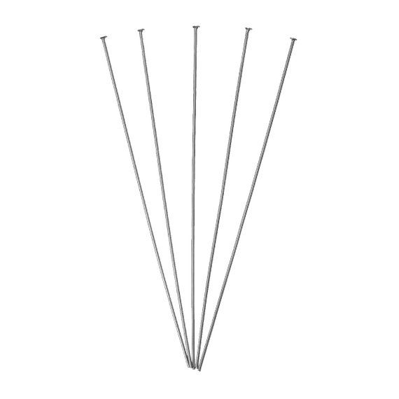100 Pcs 304 Stainless Steel Flat Head Pins 75mm 2 95 21 Gauge 0 7mm Thick Tarnish Resist Head Pins Flat Head Stainless Steel