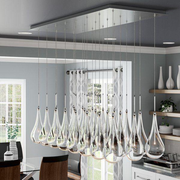 Neal 24 Light Kitchen Island Teardrop Pendant With Images Kitchen Island Pendants Kitchen Lighting Outdoor Kitchen Design