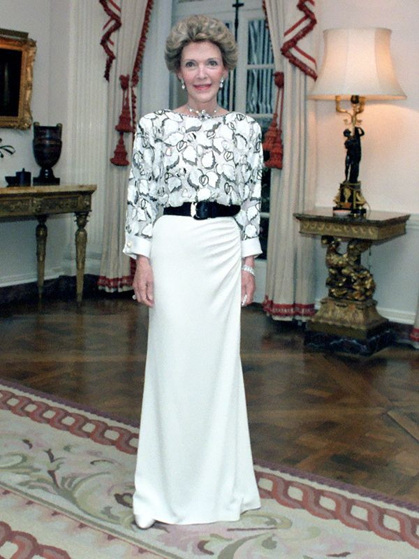 Nancy Reagan white dress