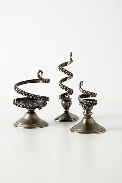I seriously LOVE these; I was super close to buying them last week! Tentilla Coil Candle Holder #anthropologie