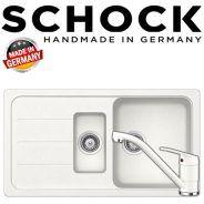Kit chiuveta de bucatarie granit Schock Formhaus D-150 si baterie Schock Cosmo Alpina