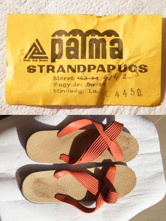 Gumi strandpapucs (70's)