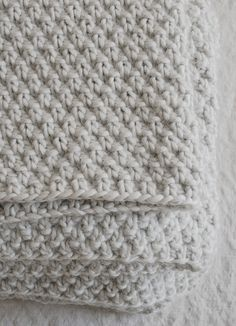 Double Seed Stitch Blanket By Purl Soho - Free Knitted Pattern - (ravelry)