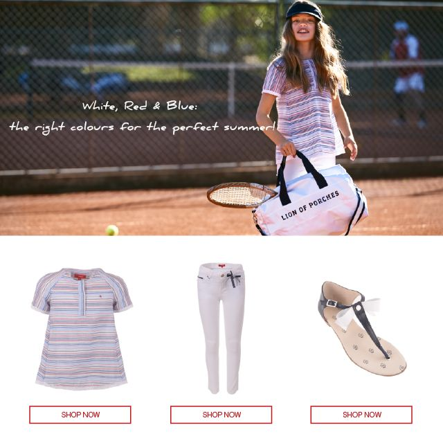 White, Red & Blue l Spring Summer Collection for Girl Get to know Lion of Porches World @ www.lionofporches.com