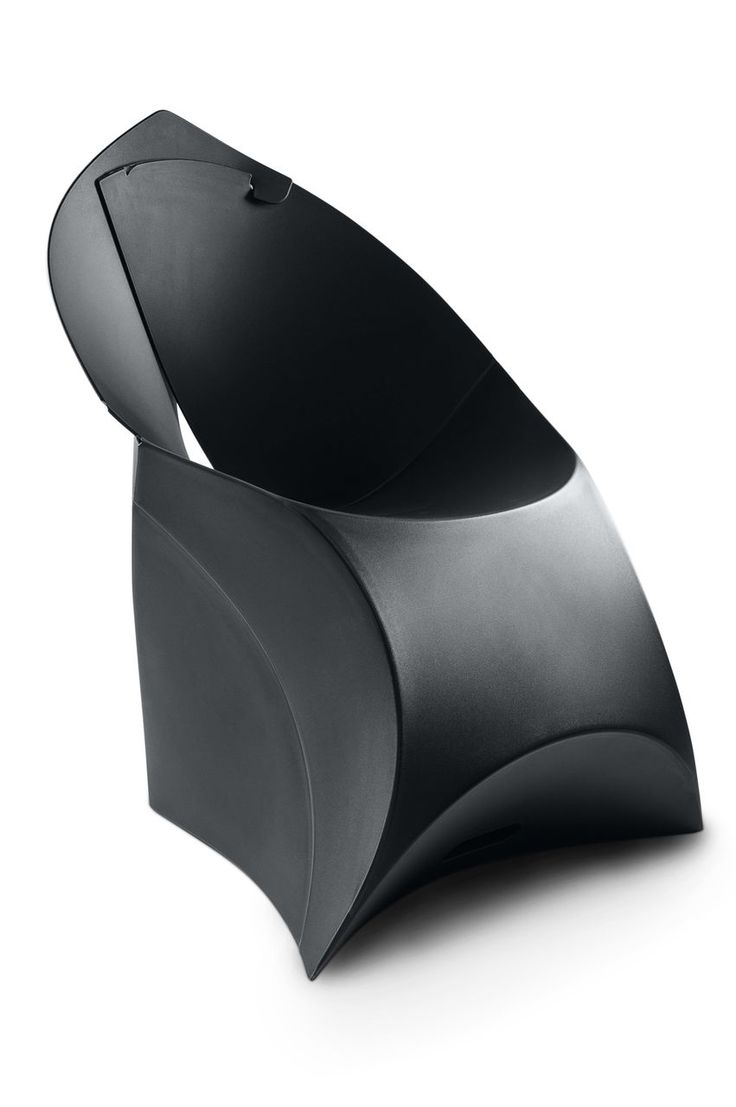 The Jet Black Flux Chair. Our award-winning Dutch design. Looks like a giant envelope; turns into a designer chair.Simple. #Flux #Chair #Furniture #Home #Garden #Design #Waterproof #Interior #Recyclable #Dutch #Fold #Flatpack #Events