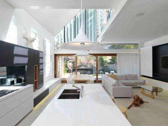 oltre 25 fantastiche idee su soggiorno open space su pinterest ... - Soggiorno Cucina Con Camino