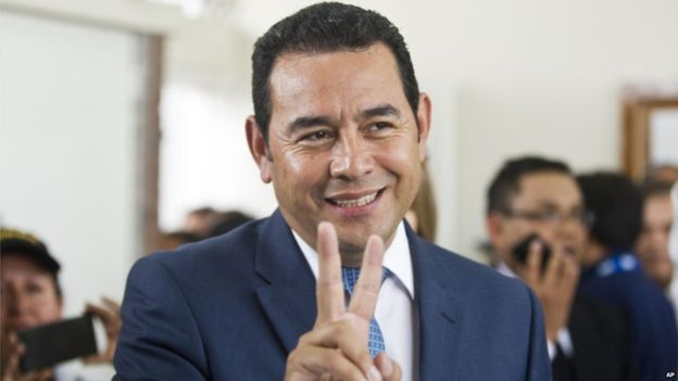 Guatemala election: Jimmy Morales ahead in presidential poll - Source - BBC News - © 2015 BBC #Guatemala, #Election, #World