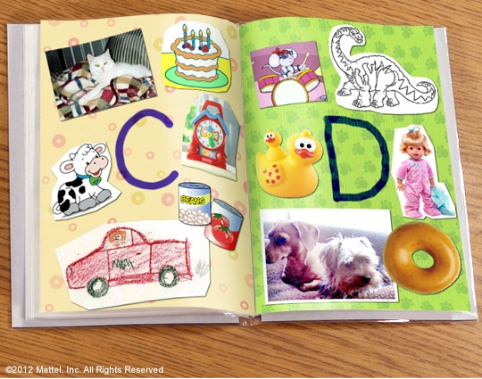 Make an alphabet book … It's a good project for rainy days that kids can add to!