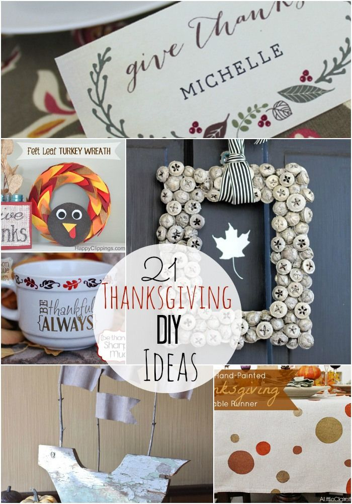 Great Ideas -- 21 Thanksgiving Projects! Tatertots and Jello #DIY #Thanksgiving