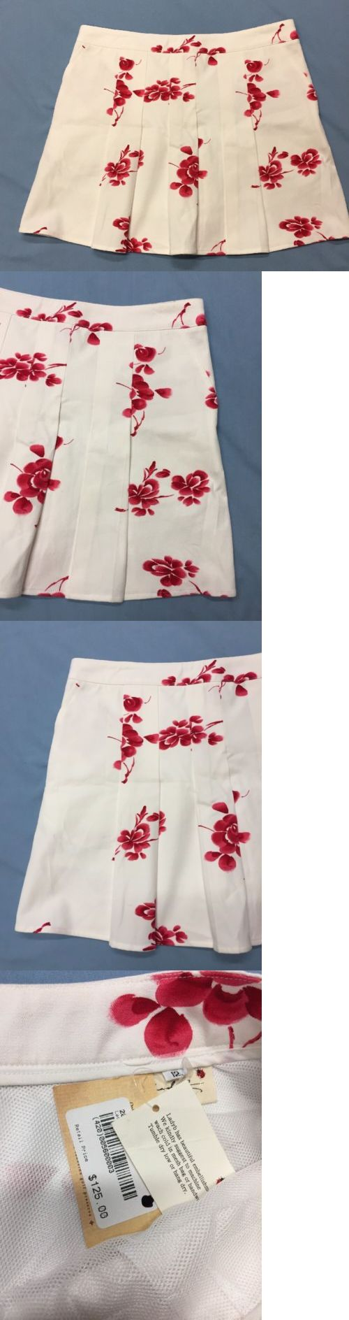 Skirts Skorts and Dresses 179003: Lady B Womens Golf Skort (12, White, Red Floral Pattern, Polyester)(Nwt) -> BUY IT NOW ONLY: $58.7 on eBay!