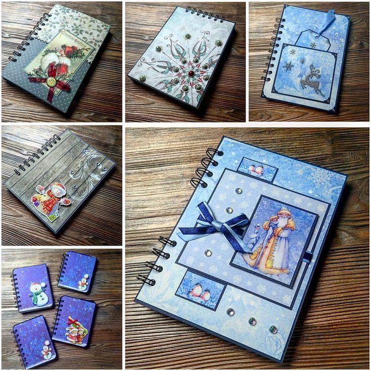 #Новогоднийблокнот #новый-год #подарки 🎁 #подарокнановыйгод #ручнаяработа #блокнотручнойработы #notebook #notebookhandmade #handmade #newyear