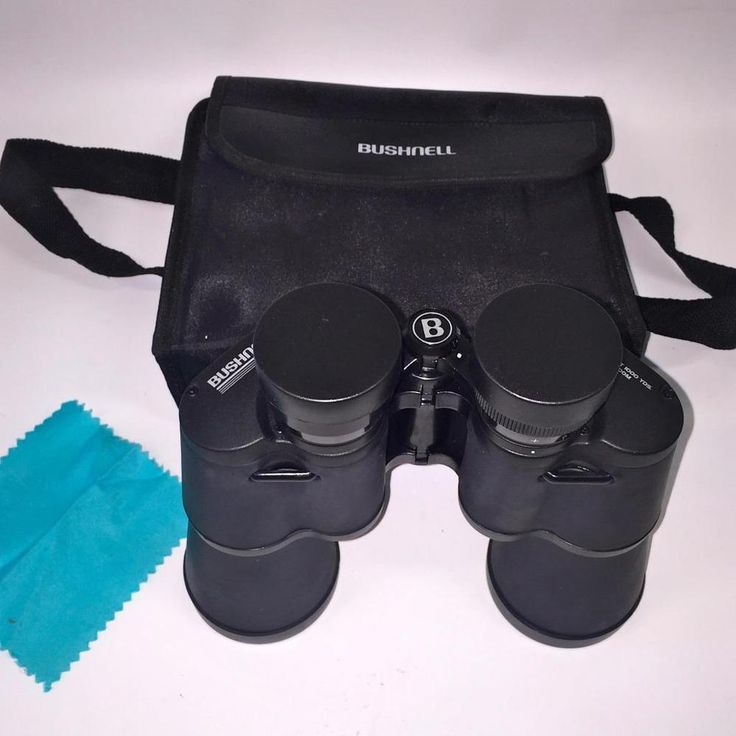 BUSHNELL Binoculars 10x50 288ft at 1000yds 96m @ 1000m Field 5.5 degrees~w/CASE #Bushnell