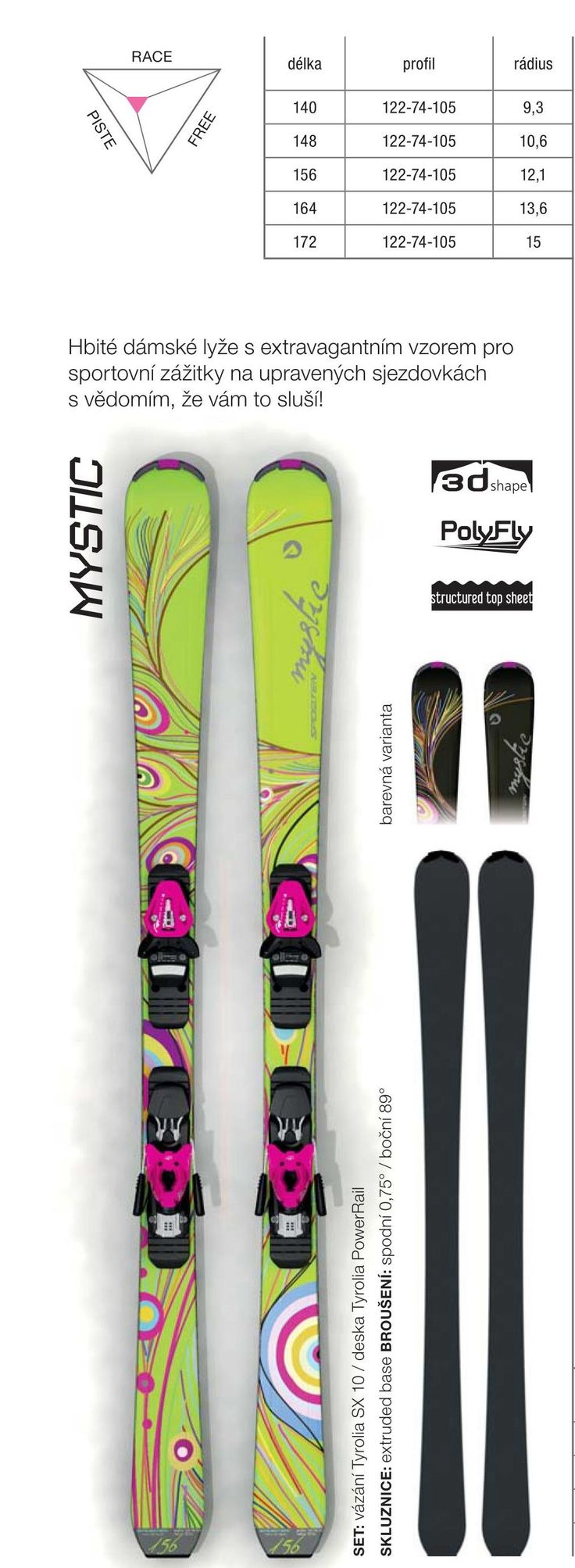 Women design - Sporten Mystic skis 2015/16 collection
