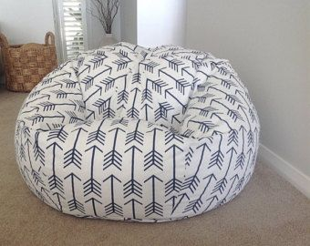 Bean Bag, Shooting Arrows Bean Bag, Adults bean bag, Kids bean bag Navy and White,
