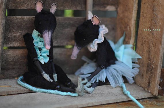 """#RatBerry toys  Creepy stuffed animals dolls BLACK rat 7""""GIRL Baby Rat Posable mouse figurine bjd #doll toy for Blythe unique gift for her ratberry art toys  This is a Baby girl bjd rat. Ve... #handmade #creepyart #creepytoy #stuffedanimal #etsy #ratberry #plushies ➡️ http://jto.li/HSe5n"""