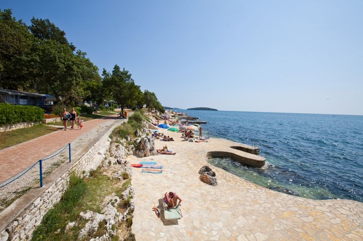 Walk along the coast in camping Zelena Laguna #camping #summer #Porec #Istria #Croatia