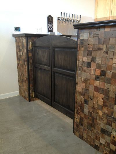 Archway Style Poplar Custom Cafe Doors / Saloon Swinging Doors