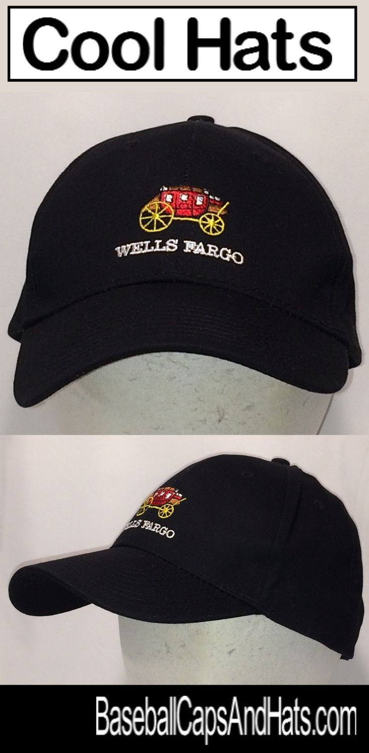 3ff10564e6b Cool Hats - Here is a Vintage Wells Fargo Hat with the Stagecoach Logo.  Find this and other Cool Hats in our online store. Get your Cool Hats Today    Save!