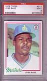 1978 Topps 311 Jose Baez DP RC Seattle Mariners PSA 9