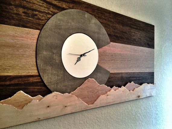 Hey, I found this really awesome Etsy listing at https://www.etsy.com/listing/211388167/colorado-mountain-flag-clock-gray-scale
