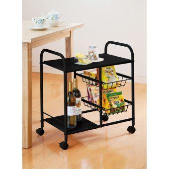 よく使うモノを収納して移動もラクラク!テーブルの下に収まる高さで、見た目スッキリ!乾物や保温ポットなど、キッチンやテーブル回りで使用するものをスッキリ収納できます。天板は料理やティータイムの補助台に◎