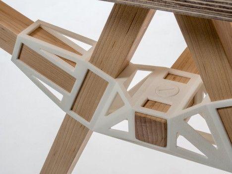 3D-Printable Connectors Make DIY Furniture Assembly Easy