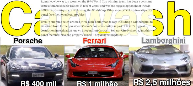 Carwash ➤ http://www.bloomberg.com/news/articles/2015-07-15/romario-joined-by-impeached-ex-president-in-brazil-soccer-probe ②⓪①⑤ ⓪⑦ ①⑤ #Collor