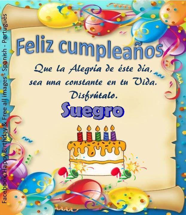 Tarjetas de feliz cumpleaños suegro http://tarjetasdefelicitaciones.net/