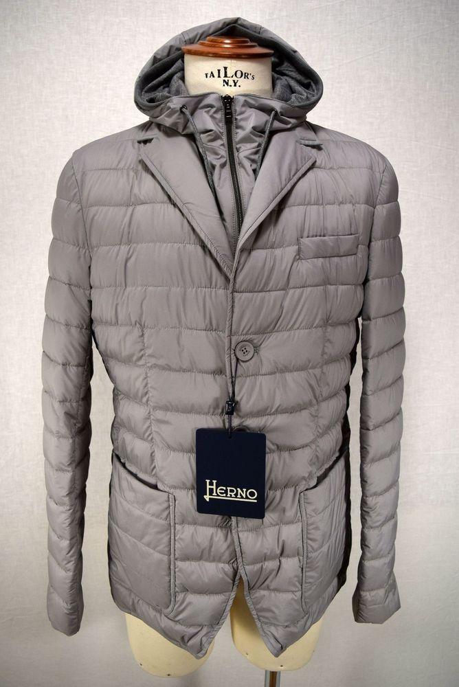 HERNO giacca uomo PIUMINO giaccone IMPERMEABILE grigio A I 2018 19 art.  PC0067U e4f569e4fb3