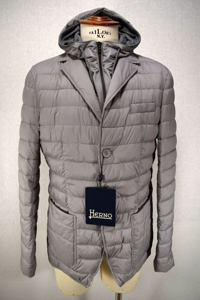 HERNO giacca uomo PIUMINO giaccone IMPERMEABILE grigio A I 2018 19 art.  PC0067U fbe96a81d50