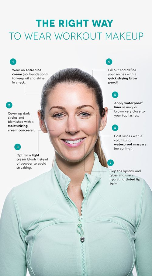 For all those ladies who still like to put on a fresh face for the gym - here are some great tips! #makeuptips #skincare