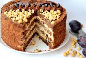 """Шоколадный торт с """"пьяным"""" черносливом и карамельно-сливочным кремом.Вам потребуется:Для тестаяйца крупные-6"""