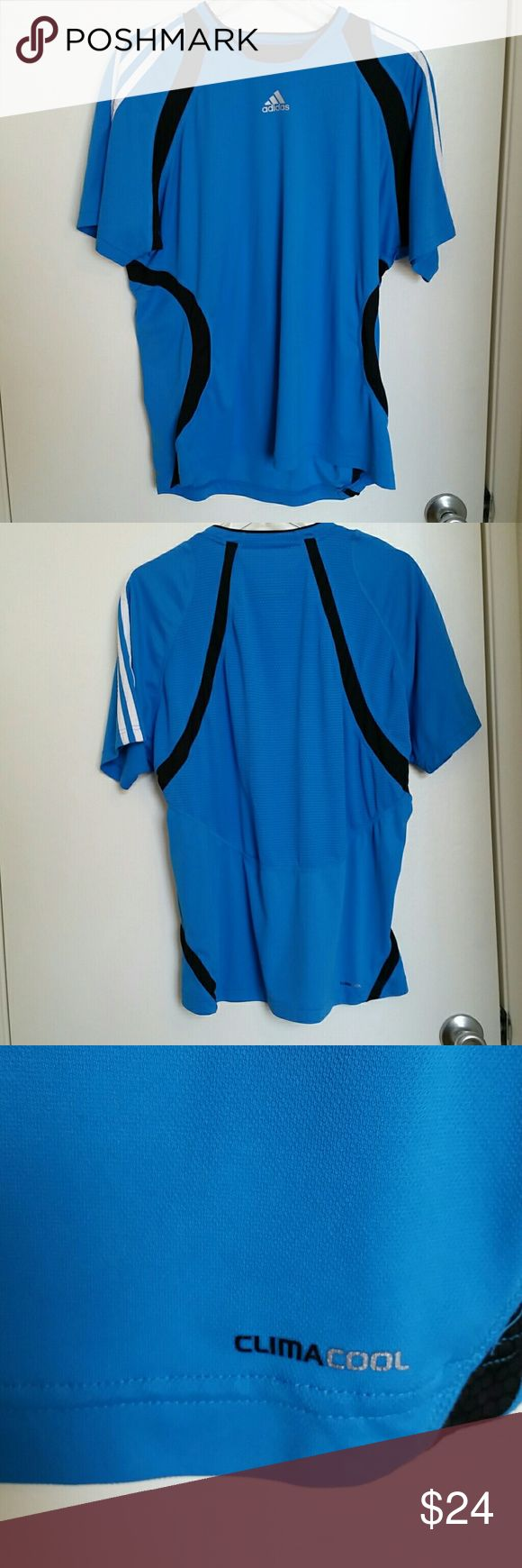 Adidas workout shirt I'm wearing my Adidas workout shirt, ready to be sold. Make me an offer because my girlfriend prefers Nike. Adidas Shirts Tees - Short Sleeve