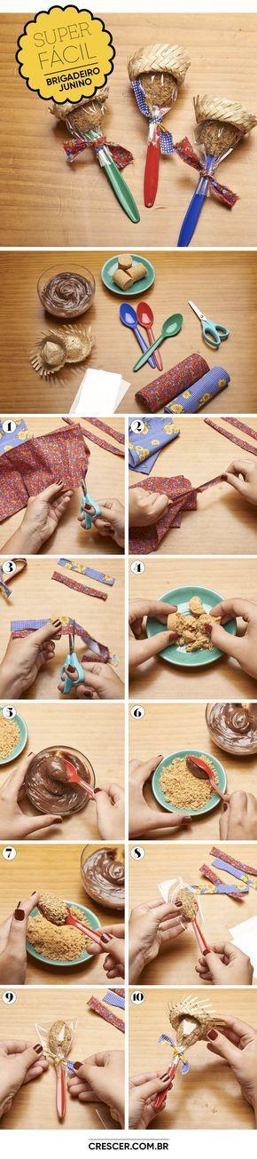 Com um pouco de criatividade e muita paçoca, o doce ganha ares juninos para encantar as crianças. Aprenda a fazer!