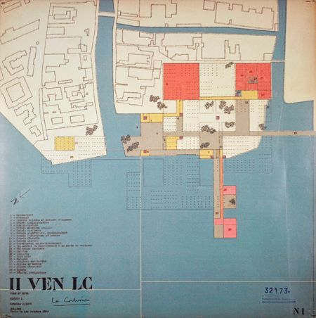 Le Corbusier, first project for the new Venice Hospital. General plan of the first level, 1964. Courtesy Fondation Le Corbusier
