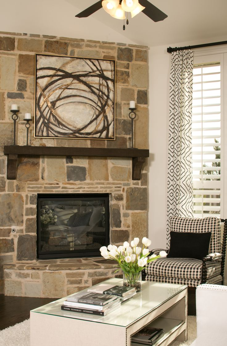 Stone that includes a mix of sizes and colors creates a less formal  fireplace while maintaining. 23 best images about Fireplaces on Pinterest   Parks  Colorful