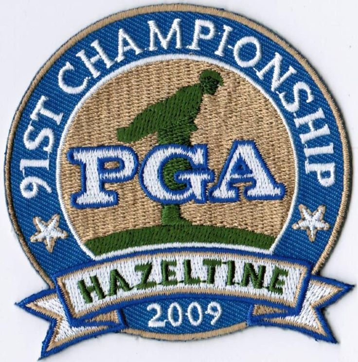 91ST PGA Golf Championship 2009 EMBROIDERED Patch