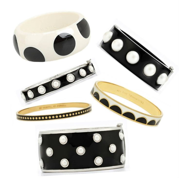 black and white polka dots ~ Have some similar to these from Dillards