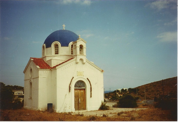 Little church in the mountains of Karystos