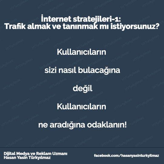 İnternet Stratejileri - 1 - Hasan Yasin Türkyılmaz Ankara  Dijital medya ve Reklam Hizmetleri