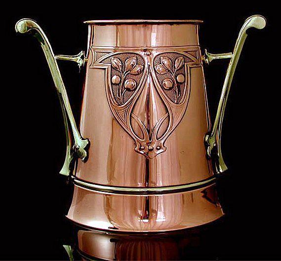 WMF Art Nouveau Copper Jugendstil Wine Cooler, Germany C.1900