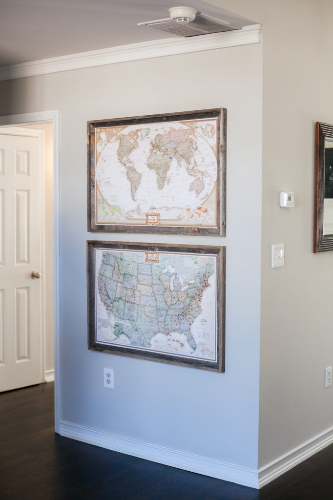 How to make a push-pin map and travel gallery wall on a budget – HelloRedhead | Atlanta Travel & Lifestyle Blog
