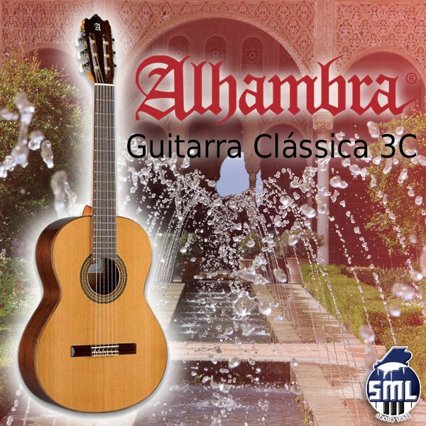 Guitarras clássicas Alhambra, encontra no Salão Musical de Lisboa. Veja este modelo aqui http://salaomusical.com/pt/guitarra-classica-alhambra-3c-cedro-sapelly-p137