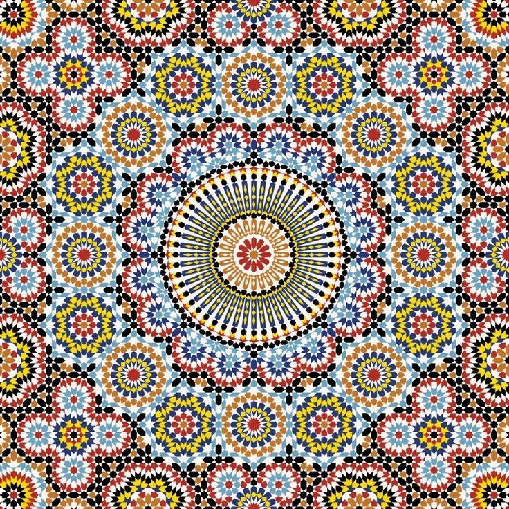 Oosterse sferen in prachtige heldere kleuren met een Marokkaanse mozaïc look, zeer opvallend. Dit prachtige Kitchen Walls behang leurt elke keuken op! Price € 125,00